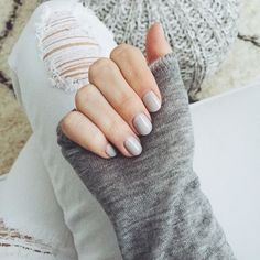 light grey nails ☆