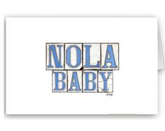 Card Set  New Orleans Graphics:  Nola by BethDaiglePhotograph