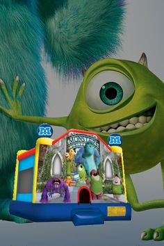 Monsters Inc. Bouncy Castle  #bouncy #castles #monstersinc #play #inflatables #toys #kids