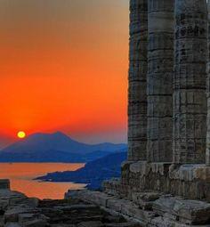 Temple of Poseidon Sounion Sunset