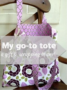 My Go-to Tote Bag Tutorial is simple, quick to sew, easy to do last minute, and becomes part of the gift when used as a gift bag