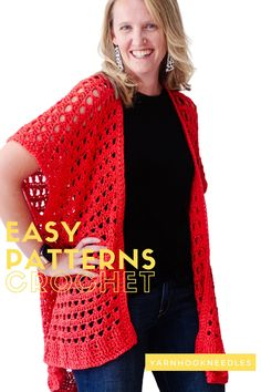 Looking for a great beginner crochet garment pattern? Check out this EASY to make crochet cardigan! You'll love the look   the easy to follow video tutorial! This really is the perfect crochet pattern for beginners!
