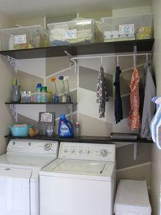 $124 Laundry Room Overhaul- Pass Through to Garage (Custom DIY Shelves, Labels, Storage, Organization)