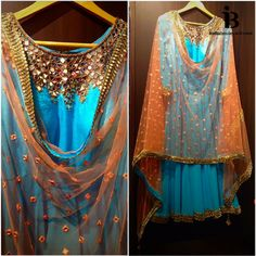 Sky blue salwar kameeze with mirror work neckline, paired with a soft peach dupatta scattered with mirror work & gold sequin border.  If you need a custom oufit get in touch with us at indiaboulevard.com or email us at inquiries@indiaboulevard.com  #indiancouture #desicouture #indianwear #desifashion #indianfashion #fashionista #customindianwear #allthingsindian #newdesigners #lehenga #bridal #indianembroidery #couture #bollywood #ss15 #igers #instagood #asianbride #bollywood #summer…