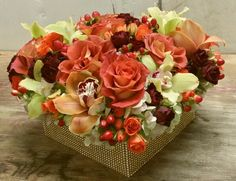 #wedding flowers #custombox#fallcolorflowers