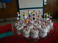 North Pole donuts..fun snack for Christmas