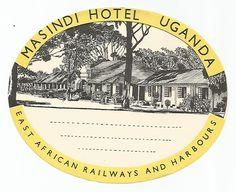 Masindi Hotel, Uganda Luggage Label