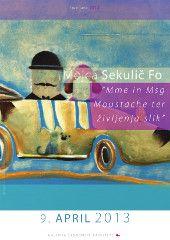 Ilustratorka in grafična oblikovalka Mojca Sekulič Fo: »Mme in Msg Moustache ter življenja slik«