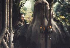 Legolas leaving his father palace