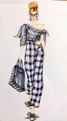 Fashion Design Sketchbook, Fashion Design Drawings, Fashion Sketches, Fashion Drawing Dresses, Fashion Illustration Dresses, Fashion Art, Girl Fashion, Fashion Outfits, Vintage Fashion