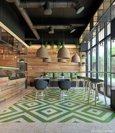 Best Cafe Bar Design Ideas For You Men and women come to bar or restaurant to shell out time and receive an experience. Let they know what your bar is offering that they won't find anywhere else. Irrespective of your style and… Lounge Design, Café Design, Floor Design, Ceiling Design, Design Ideas, Design Hotel, Design Interiors, Shop Interiors, Design Projects