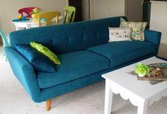 Nixon Sofa in Lucky Turquoise