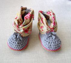 CROCHET PATTERN Baby Summer Booties easy Crochet by matildasmeadow
