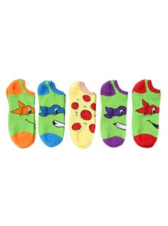 Teenage Mutant Ninja Turtles Classic No-Show Socks