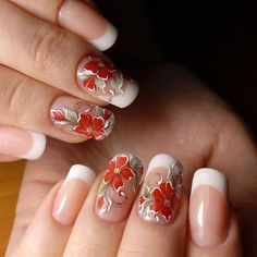 Semi-permanent varnish, false nails, patches: which manicure to choose? - My Nails Fake Gel Nails, Gel Nail Art, Nail Polish Designs, Nail Art Designs, Gel Nagel Design, Minx Nails, Flower Nail Art, Autumn Nails, Boxing Day