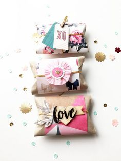 50 Romantic DIY Valentine's Day Gift Wrapping Ideas - Page 77 of 150 - CoCohots Diy Gift Box, Diy Box, Creative Gift Wrapping, Creative Gifts, Wrapping Ideas, Pretty Packaging, Gift Packaging, Small Gift Boxes, Small Gifts