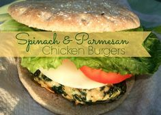 Spinach and Parmesan Chicken Burgers and a pin-it party | http://www.yourmodernfamily.com/pin-it-party-7/