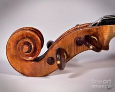 Violin Photograph - Scroll Side View by Endre Balogh