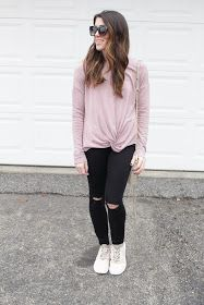 Top: Abercrombie & Fitch , Jeans: Topshop , Shoes: Nike , Bag: Rebecca Minkoff , Sunglasses: Nordstrom   ...