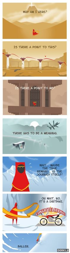 I've played journey, and this seems like a great ending.