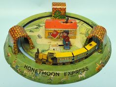 ANTIQUE 1926 MARX HONEYMOON EXPRESS TRAIN TIN WIND UP TOY   Toys of Times Past