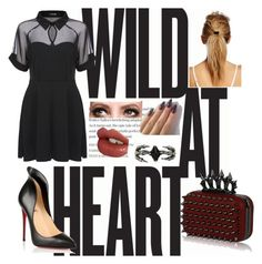 """Wild"" by beyourownkindofbeaut ❤ liked on Polyvore featuring Christian Louboutin, KD2024, Charlotte Tilbury, Cara Accessories and Maybelline"