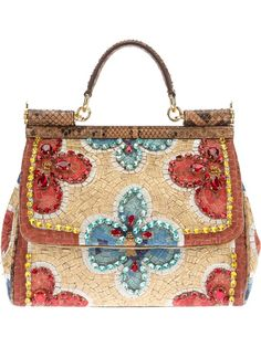 Dolce & Gabbana - mosaic small tote bag by dolce