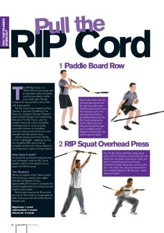 1 Paddle Board Row 2 RIP Squat Overhead Press - Read more about trainer, resistance, palm, workout, symmetrical and stance.