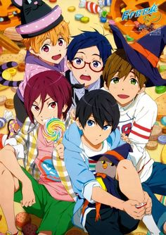 This group officially cannot get any cuter (until I find the next adorable pic) ; free iwatobi swimclub ; eternal summer ; haruka nanase ; makoto tachibana ; nagisa hazuki ; rei ryugazaki