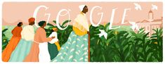 Sojourner Truth, a preacher, abolitionist and women's rights activist, became one of the most significant figures in African-American history after traveling extensively across the US to speak about the evils of the slave trade and social injustices. Black History Month, Lélia Gonzalez, You Doodle, Truth To Power, Google Doodles, You Draw, African American History, Art Google, Painting