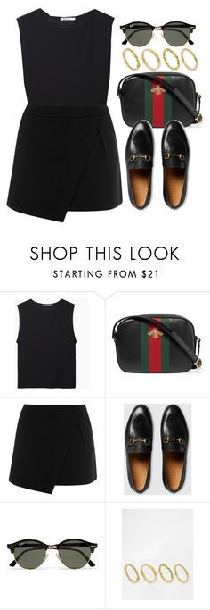 """""""#14654"""" by vany-alvarado ❤ liked on Polyvore featuring T By Alexander Wang, Gucci, Warehouse, Ray-Ban and Made"""