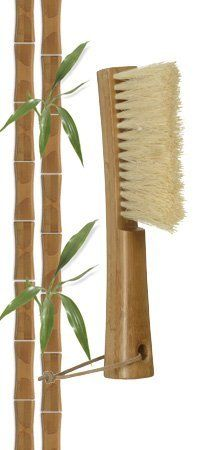 """Casabella Bamboo Hand Broom with Natural Palmyra Bristles (Pack of 12) by Casabella. $186.35. Dimensions: 10.24"""" L, 10.24"""" W, 3.54"""" H. Genuine bamboo brush for everyday cleaning chores. Clean crumbs and debris from countertops or work surfaces. Natural palmyra bristles. Leather hanging loop."""