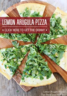 Arugula and Lemon Pizza - I made this on the rosemary/olive oil FlatOut, really good. Used some piave cheese