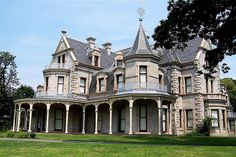Second Empire style for Lockwood-Matthews mansion. Connecticut, US #house
