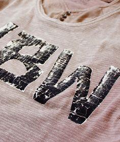 Kapital   good t-shirt distressing   vintage heat transfer look
