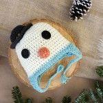 Crochet livre Hat Pattern-um boneco de neve do bebê!
