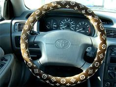 LOUIS VUITTON car steering wheel cover...This Would Look Good In My Car!!