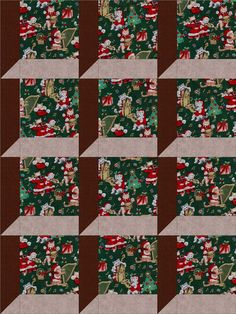 Christmas Cats and Music Quilt Kit 12 PRE-CUT Blocks