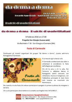 08/02 - Progetto San Giorgio - da donna a donna: Festa di Carnevale
