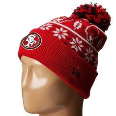 Mens   Womens San Francisco 49ers New Era NFL Sweater Chill On-Field Sports  Rib Knit Pom Pom Beanie Hat - Red bd7928bb8