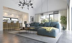 Projekt domu Alfi 158,86 m2 - koszt budowy - EXTRADOM Couch, Room, Furniture, Home Decor, House 2, Bedroom, Settee, Decoration Home, Sofa