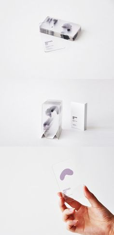 """ETIQUETAS Damned impressive, but I can't imagine the price tag. Transparent Identity Cards for """"Another Art"""" Logo Design, Graphic Design Branding, Corporate Design, Identity Design, Business Card Design, Corporate Branding, Transparent Business Cards, Unique Business Cards, Creative Business"""