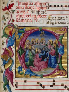 Antifonario, particolare, XV d.C.      Biblioteca Malatestiana, Cesena