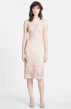 Dolce&Gabbana Sleeveless Lace Sheath Dress available at #Nordstrom