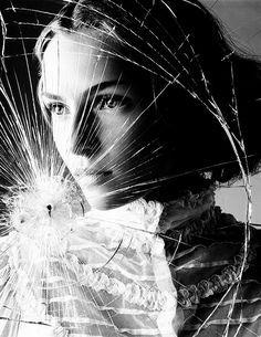 Smashed glass portrait