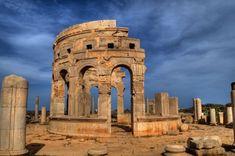 Leptis Magna in Libya - Market relics