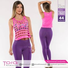 REF:1213 Blusa RIP fucsia Leggings pretina alta,morado #ToraTraining #EntrenaConEstilo #Fitness #FitnessFashion