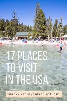 Choosing cool places to visit in the US is not an easy task. Looking for your next destination in the US to visit? We're sharing 17 cool places to visit in the USA for 2020 (and beyond) Most of these you have probably not heard of! Vacation Places In Usa, Vacations In The Us, Best Places To Travel, Vacation Spots, Cool Places To Visit, Summer Vacation Ideas, Us Family Vacations, Romantic Vacations, Vacation Travel