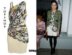 OP wearing Graffiti multi print dress