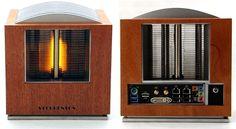 Mahogany art deco radio houses Intel Ivy Bridge fanless PC